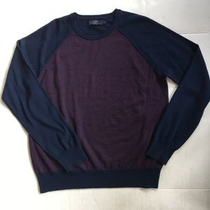 J CREW men's sweater 100% merino wool, size L